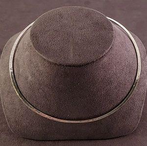 James Avery Hammered Hook Neck Collar -Retired